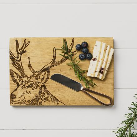 Stag Cheese Board & Knife Gift Set