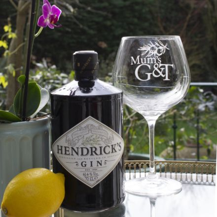 Mum's G&T (Gin)  - Juniper Copa Glass, 210mm (Individually Gift Boxed) - NEW