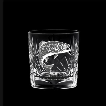 British Wildlife - Kintyre Whisky Tumbler engraved SALMON (84mm, 26cl) (Gift Boxed)