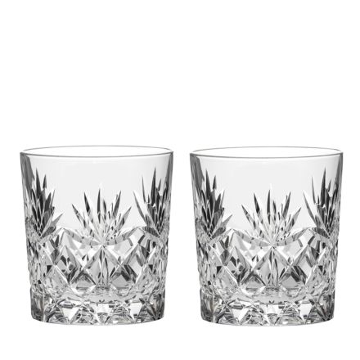 Kintyre 2 Crystal Large Tumblers - 95mm (Gift Boxed)   Royal Scot Crystal