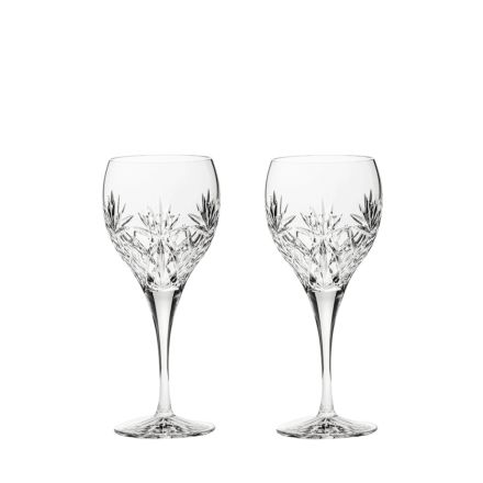 Kintyre 2 Crystal Large Wine Glasses - 210mm (Gift Boxed) | Royal Scot Crystal
