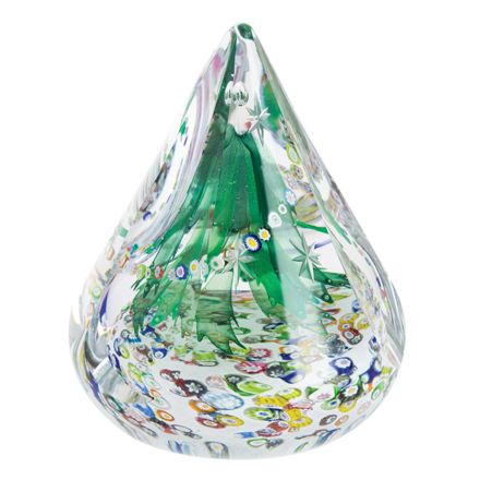 Evergreen Christmas Glass paperweight / Ornament, 140mm - Limited Edition of 150 | James Pirie
