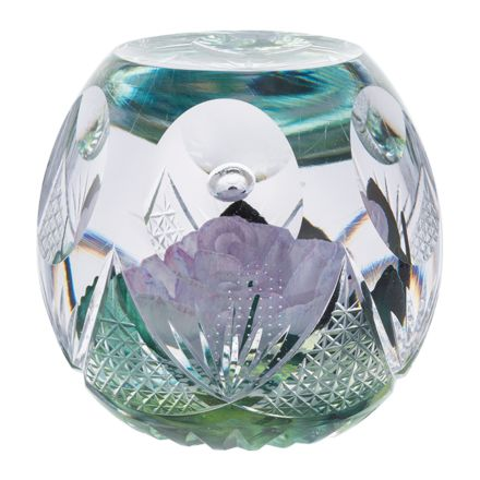 Chantilly Glass Paperweight -115mm (Floral) Limited Edition of 100 - | James Pirie