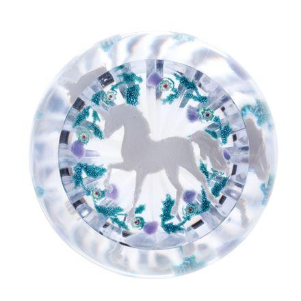 Untamed Beauty Glass Paperweight, 100mm (Scottish)  (Unicorn) - Limited Edition of 150 | James Pirie