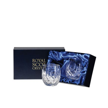 London- 2  Crystal Barrel Tumblers 85mm (Presentation Boxed) | Royal Scot Crystal