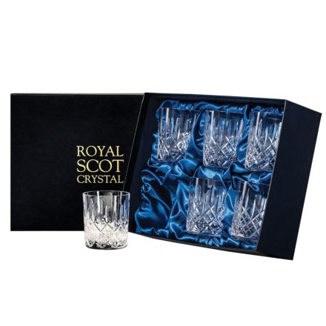 London - 6 Large Crystal Tumblers 95mm (Presentation Boxed)   Royal Scot Crystal