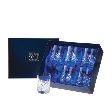 London - 6 Crystal Small Whisky Tumblers 87mm (Presentation Boxed)   Royal Scot Crystal