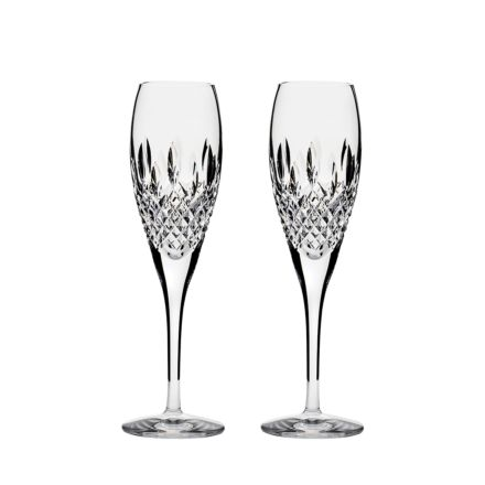 Mayfair 2 Crystal  Champagne Flutes 218mm (Gift Boxed)   Royal Scot Crystal