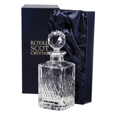 Mayfair - Square Spirit Decanter 245mm (Presentation Boxed) | Royal Scot Crystal