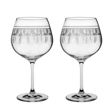 Nouveau - 2 Red Wine Glasses (Pinot Noir / Burgundy) 210mm (gift boxed) | Royal Scot Crystal