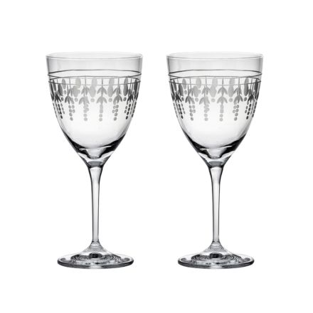 Nouveau - 2 Large Wine Glasses, 205mm (Gift Boxed) | Royal Scot Crystal - New!