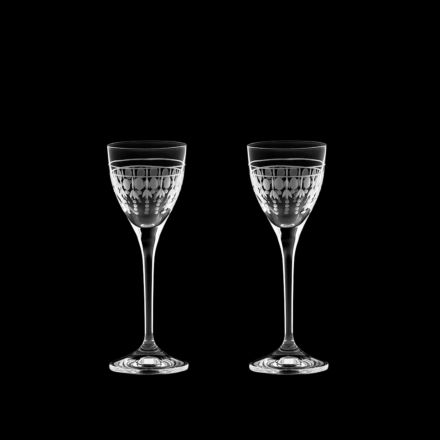 Nouveau - 2 Port / Sherry Glasses, 157mm (Gift Boxed) | Royal Scot Crystal - New!