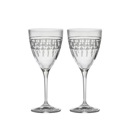 Nouveau - 2 Wine Glasses, 193mm (Gift Boxed) | Royal Scot Crystal - New!