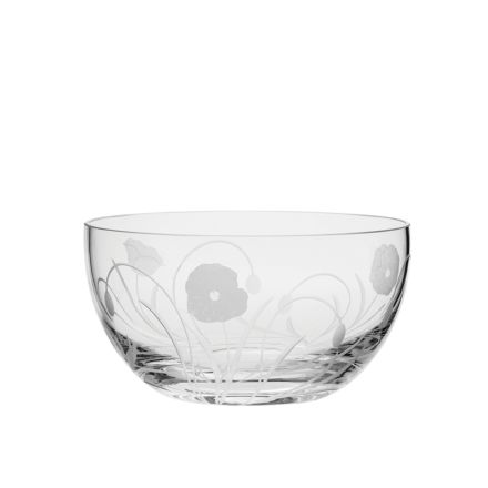 Poppy Field - Fruit Salad Bowl 190mm (Gift Boxed) | NEW  | Royal Scot Crystal