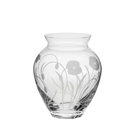 Poppy Field - Large Posy Vase 180mm (Gift Boxed) | NEW  | Royal Scot Crystal