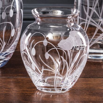 Poppy Field - Small Posy Vase 120mm (Gift Boxed)   NEW    Royal Scot Crystal
