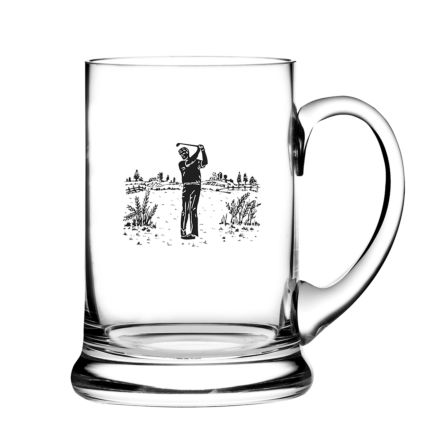 Real Ale Tankard Engraved Golfer (Gift Boxed)