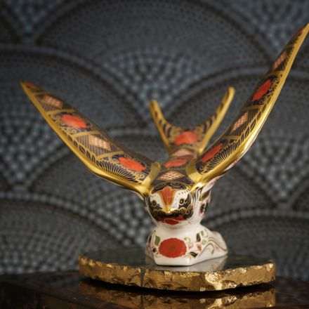 Old  Imari  Solid  Gold  Band  Swallow