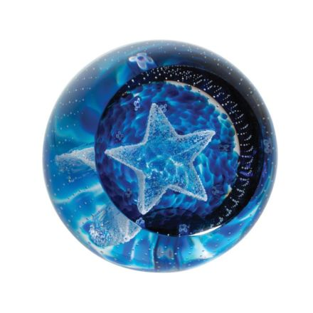 Twinkle Twinkle Little Star Glass Paperweight 80mm  | James Pirie