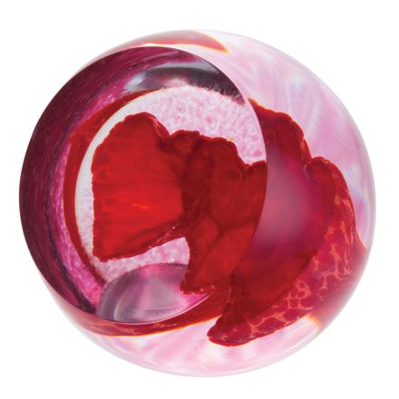 Love Hearts Glass Paperweight, 115mmmm | James Pirie