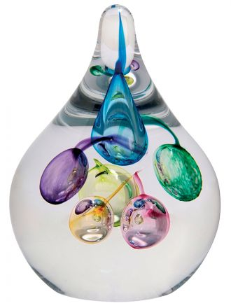 Party Balloons Glass Paperweight, 110mm (Celebrations)   James Pirie