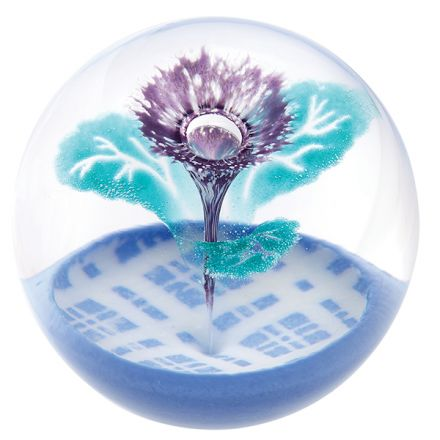 Scottish Thistle (Flower of Scotland) Glass Paperweight 80mm | James Pirie
