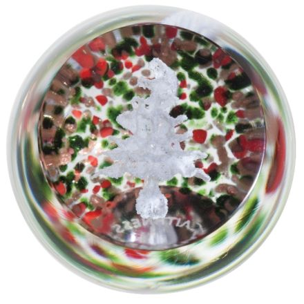 Christmas Frostings Tree (Glass paperweight / Ornament)  50mm | James Pirie