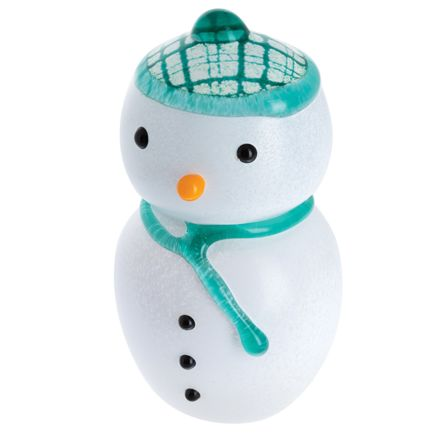 MacSnowman - Glass Paperweight / Ornament, LARGE 110mm (Christmas)  | James Pirie
