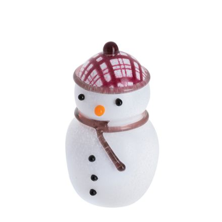 MacSnowman - Glass Paperweight / Ornament, SMALL 85mm (Christmas)  | James Pirie