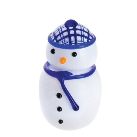 MacSnowman - Glass Paperweight / Ornament, MEDIUM 95mm (Christmas)  | James Pirie