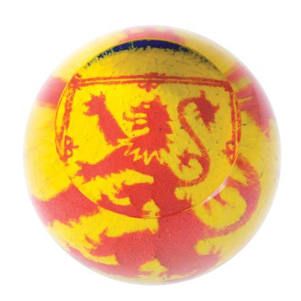 The Lion Rampant Glass Paperweight (Scottish) - 80mm | James Pirie