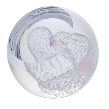 Precious Heart Glass Paperweight (Love) - 67mm -| James Pirie