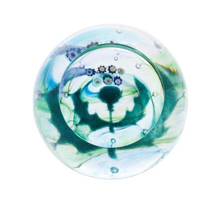 Milli Thistle (Flower of Scotland) Glass Paperweight (Scottish) (Floral) - 65mm -| James Pirie