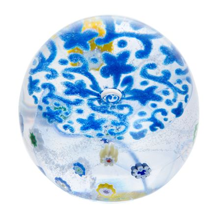 Forget me Not  (Lace) Glass Paperweight, 65mm - | James Pirie