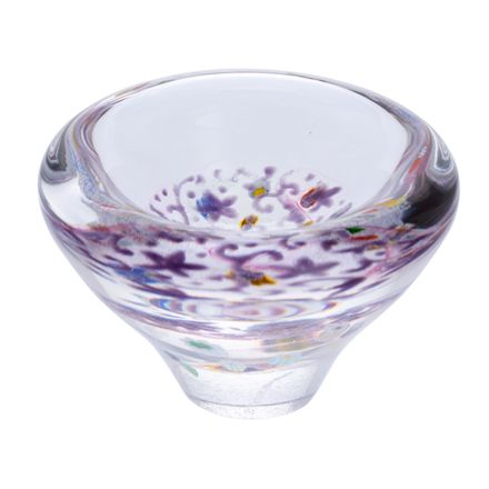 Heather Glass Dish, (Lace) 100mm -| James Pirie