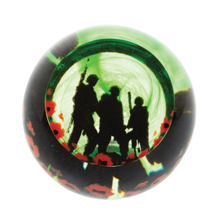 Remembrance - Proud Soldiers Glass Paperweight - 80mm | James Pirie