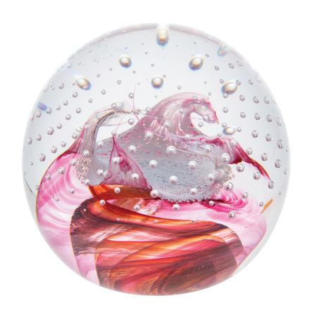Celebrations Congratulations Ruby Glass Paperweight,  80mm (Love) | James Pirie